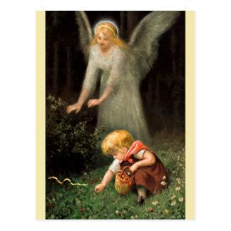 Postal Ángel y chica en Wald.