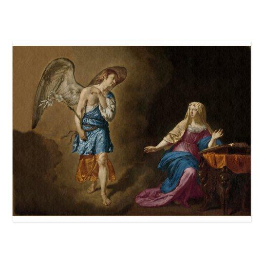 Postal Ángel y Maria del anuncio