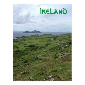 Postal Anillo de la vista al mar del irlandés de Kerry