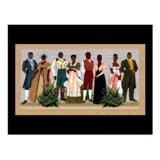 Postal Anillos afroamericanos de la libertad del arte