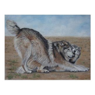 postal animal del arte del realista escénico de la