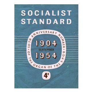 Postal Aniversario socialista del estándar 50.o