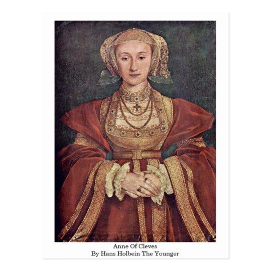 Postal Anne de Cleves de Hans Holbein el más joven