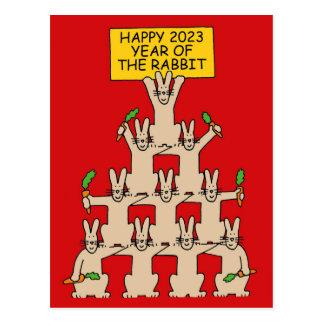 Postal Año Nuevo chino del conejo 2023