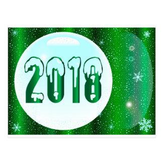 Postal Año Nuevo del verde 2018