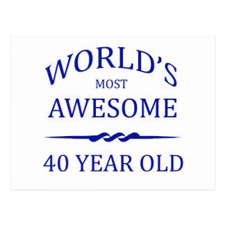Postal Años más impresionantes del mundo los 40