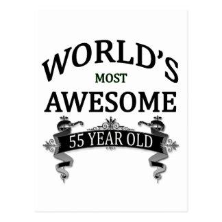 Postal Años más impresionantes del mundo los 55
