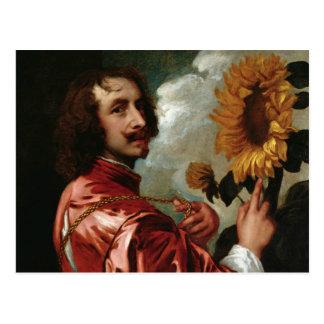 Postal Anthony van Dyck - autorretrato