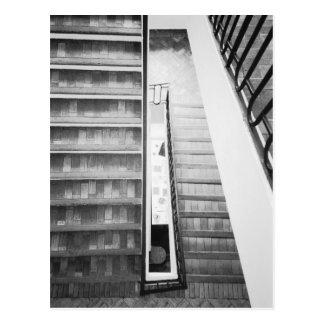 Postal Antibes Francia, museo de Picasso de las escaleras