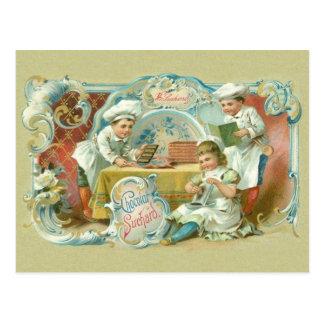 Postal Antigüedad de los panaderos del chocolate