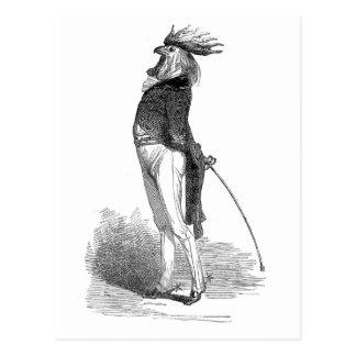 Postal antropomorfa del gallo de Grandville