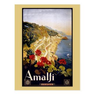 Postal Anuncio Amalfi Italia del viaje de Litho del
