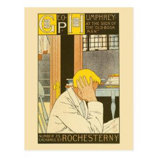 Postal Anuncio de la librería de Rochester del nouveau