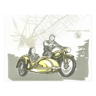 Postal Anuncio de la moto de Hockenheimring   del vintage