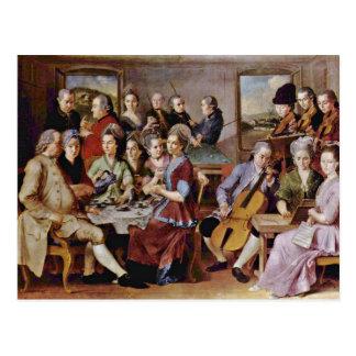 Postal Anuncio de Pontormo Jacopo