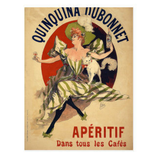 Postal Anuncio del francés del vintage