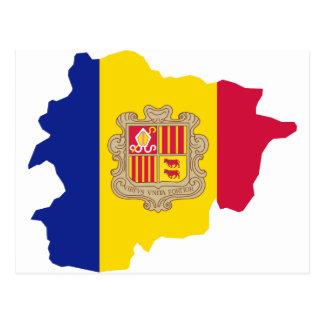 Postal ANUNCIO del mapa de Andorra
