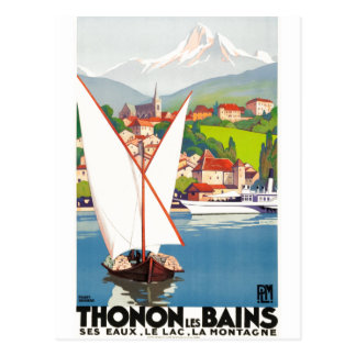 Postal Anuncio del viaje del francés de Thonon Les Bains