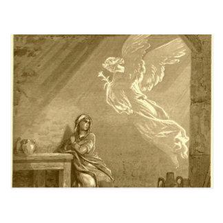 Postal Anuncio del Virgen María bendecido