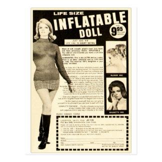 Postal Anuncio inflable de tamaño natural de la muñeca
