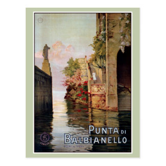 Postal Anuncio italiano 1920 del viaje de Como Lenno del