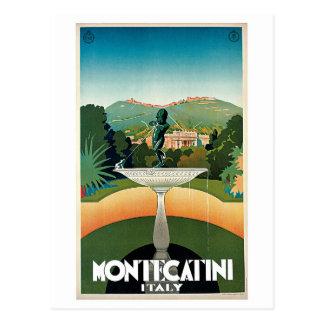Postal Anuncio italiano del viaje de Montecatini del