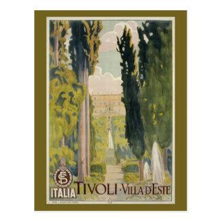 Postal Anuncio italiano Tivoli Lazio Roma del viaje del