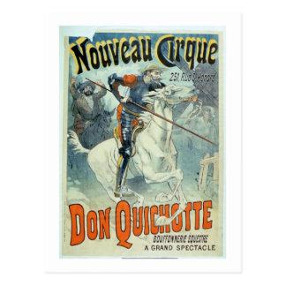 """Postal Anuncio para el """"Don Quijote, nuevo circo"""","""