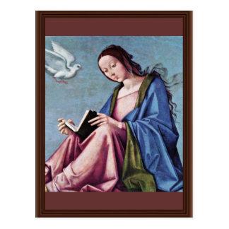Postal Anuncio (que lee a Maria) por la costa de Lorenzo