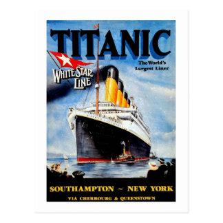 Postal Anuncio titánico del viaje del RMS