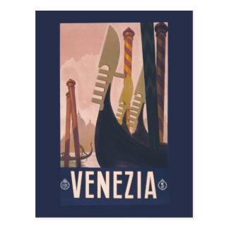 Postal Anuncio Venecia Italia del viaje de Litho del