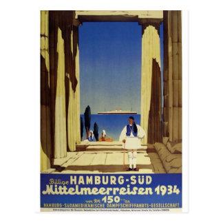 Postal Anuncio viejo Humburg Grecia