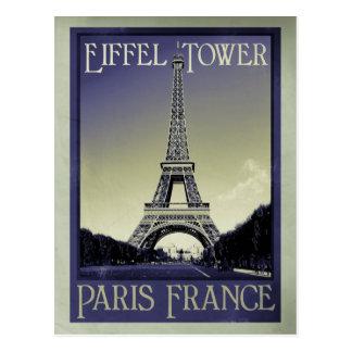 Postal apariencia vintage de París Francia