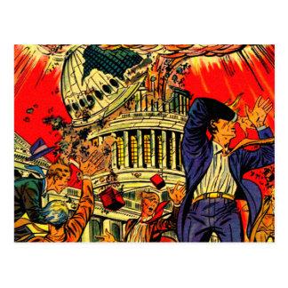 Postal Apocalipsis política del acantilado fiscal