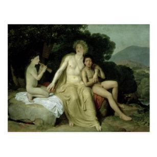 Postal Apolo con Hyacinthus y Cyparissus