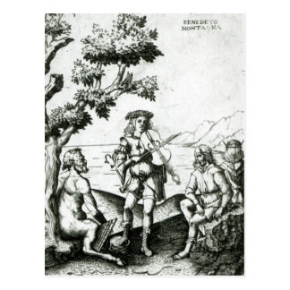 Postal Apolo y cacerola