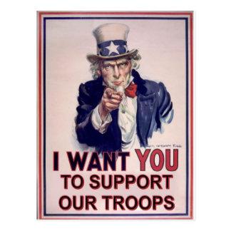 Postal Apoye a nuestras tropas