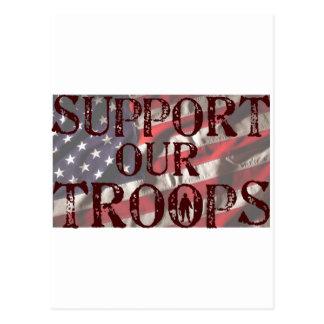 Postal apoye nuestra copia de las tropas