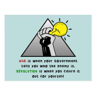 Postal Apriete la solidaridad del puño contra tiranía del