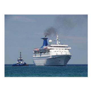 Postal Aquamarine del barco de cruceros