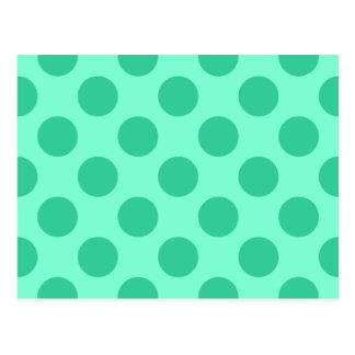Postal Aquamarine y puntos verdes