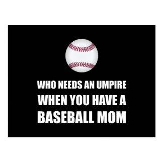 Postal Arbitre cuando mamá del béisbol