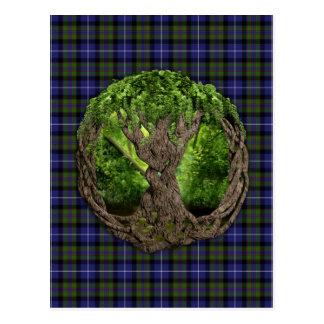 Postal Árbol céltico del orgullo de la montaña de la vida
