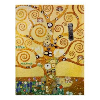 Postal Árbol de la vida por Klimt