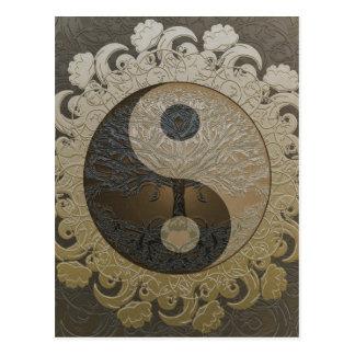Postal Árbol de la vida Yin Yang de Amelia Carrie