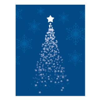 Postal Árbol de navidad azul