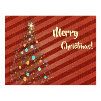Postal Árbol de navidad de la tira del caramelo
