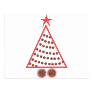 Postal Árbol de navidad moldeado