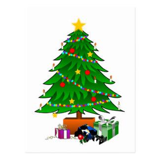 Postal Árbol de navidad y presentes