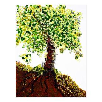 Postal Árbol floreciente